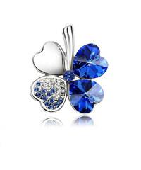 Brož čtyřlístek s krystaly Swarovski elements BR0028-0131