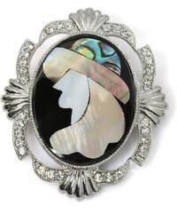 Brož barokní s Paua perletí BR0010-0312