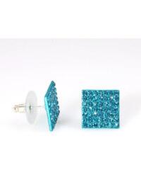 Náušnice čtverec s krystalky NE0085-0316