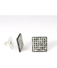 Náušnice čtverec s krystalky NE0085-0318