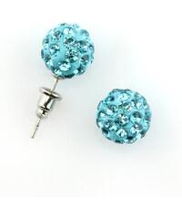 Náušnice pecky discoballs s krystaly NE0080-0315
