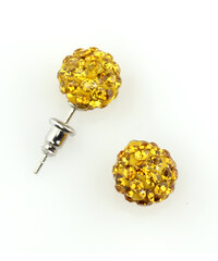 Náušnice pecky discoballs s krystaly NE0080-0311