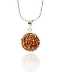 Přívěsek kulička malá s krystaly +řetízek ZDARMA PK0082-0308