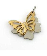 Přívěsek barevný motýl z chirurgické oceli PK0022-0114
