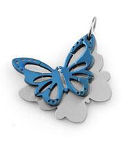 Přívěsek barevný motýl z chirurgické oceli PK0022-0105