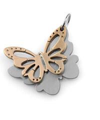 Přívěsek barevný motýl z chirurgické oceli PK0022-0117