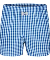 DEAL Boxershorts 'Karos', blau/weiß