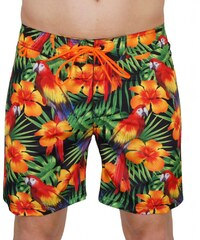 Sundek Swim Shorts 'Parrots', Black