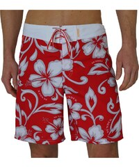 Sundek Boardshorts 'Ibiscus Poly', red