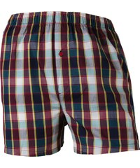 Schiesser Kinder Boxershorts 'Check', rot/blau