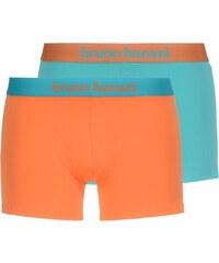 Bruno Banani 2-Pack Boxershorts 'Flowing', orange/türkis