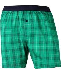Schiesser Jersey Boxershorts 'Karos', 700-grün