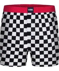 Happy Shorts Boxershorts 'Karos', schwarz/weiß