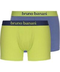 Bruno Banani 2-Pack Boxershorts 'Flowing', steingrau/lime