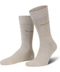 Marc O'Polo 2-Pack Herren Socke 'Roma', beige melange