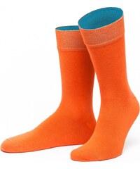 Von Jungfeld Herrensocke 'Thrakien', orange