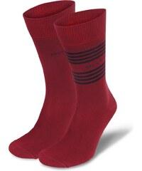 Marc O'Polo 2-Pack Herren Socke 'Metz', rot