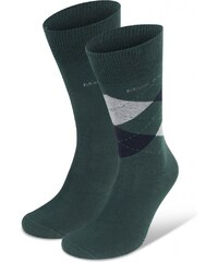 Marc O'Polo 2-Pack Herren Socke 'Midland', moosgrün