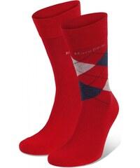 Marc O'Polo 2-Pack Herren Socke 'Casual', rot