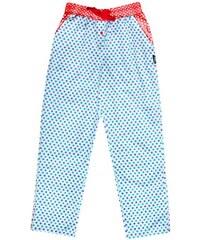Unabux Pyjamahose 'UNIVERS', blau/weiß