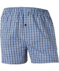 Schiesser Kinder Boxershorts 'Check', blau/weiß