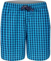 MG-1 Pyjamahose kurz 'Karos', schwarz/blau