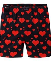 Boxxers Boxershorts 'Herzen', schwarz/rot