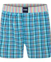 Happy Shorts Boxershorts 'Karos' türkis/mehrfarbig