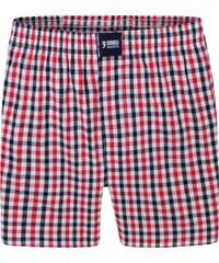 Happy Shorts Boxershorts 'Karos' rot/navy/weiß