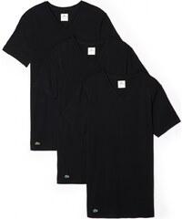 Lacoste 3-Pack T-Shirts 'Essentials' V-Neck, schwarz