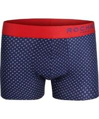 Rochas Boxershorts 'getupfte Blumen', dunkelblau/rot