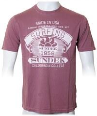 Sundek T-Shirt 'Logo Shirt', bordeaux