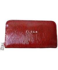 Dámská peněženka Elega Mopsy červená sláma/nikl