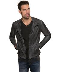 Černá kožená bunda|M/L Camp David 212960