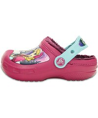 Crocs Dívčí sandály Creative Crocs Frozen Fuzz Lined Berry
