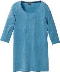 bpc selection T-shirt long bleu manches 3/4 lingerie - bonprix