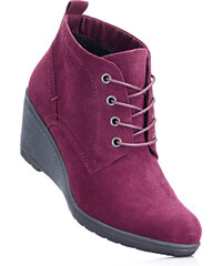 Chaussures compensées à lacets rouge avec 6 cm talon compenséfemme - bonprix