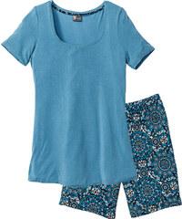 bpc selection Pyjashort long bleu manches courtes lingerie - bonprix