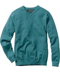 bpc selection V-Pullover Regular Fit langarm in petrol für Herren von bonprix