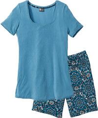 bpc selection Shorty mit langer Shorts kurzer Arm in blau für Damen von bonprix