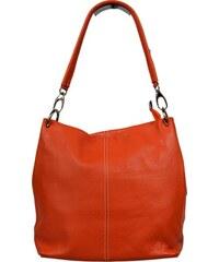 NovaKabelka.cz oranžové kožené kabelky přes rameno Fiora Arancione
