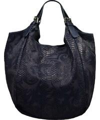 Modrá kožená italská kabelka Adelaide Blu Serp