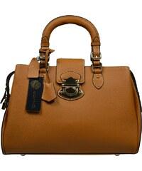 Hnědé kožené kabelky Sandra Camel