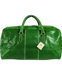 NovaKabelka.cz velké kožené cestovní tašky Brunilde Verde