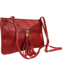 Talianská kožená kabelka Maida Rossa Taschino 8ba13cab05f