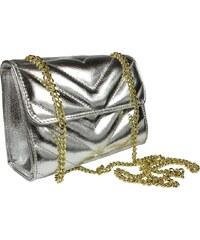 Omely Stříbrná plesová kabelka Quartilla Argento Oro