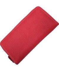 Růžová kožená peněženka HS001 Roso