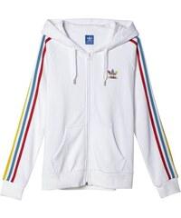 Mikina Adidas Slim FZ Hoodie white-blanc L