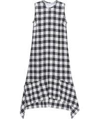 VICTORIA, VICTORIA BECKHAM Oversized Gingham Dress Black White