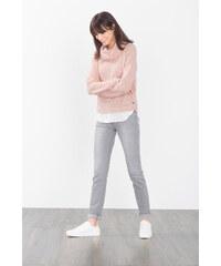 Esprit Strečové džíny v módním šedém odstínu